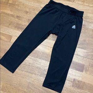 Black Adidas Athletic Capris Women's Medium